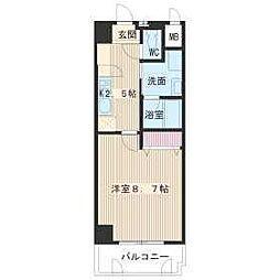 名古屋市営名城線 名古屋大学駅 徒歩16分の賃貸マンション 1階1Kの間取り