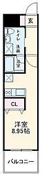 DAICHI B.L.D HORINOUCHI 3階ワンルームの間取り