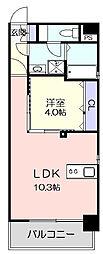 名古屋市営東山線 東山公園駅 徒歩3分の賃貸マンション 4階1LDKの間取り