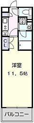 名古屋市営東山線 東山公園駅 徒歩5分の賃貸マンション 5階1Kの間取り