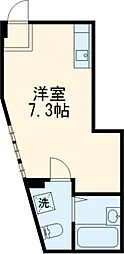 京成押上線 四ツ木駅 徒歩7分の賃貸テラスハウス 1階ワンルームの間取り