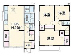 JR高崎線 北本駅 徒歩25分の賃貸一戸建て 1階3LDKの間取り