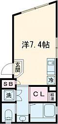 メゾン・アルデバラン 3階ワンルームの間取り