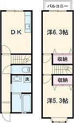 JR中央線 三鷹駅 バス18分 山野下車 徒歩3分の賃貸テラスハウス