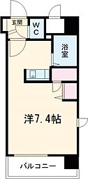 JR中央線 国分寺駅 徒歩2分の賃貸マンション 5階1Kの間取り