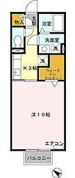 近鉄名古屋線 霞ヶ浦駅 徒歩2分の賃貸アパート 2階1Kの間取り