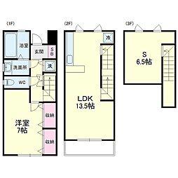 JR東海道本線 浜松駅 バス25分 有玉幼稚園下車 徒歩5分の賃貸テラスハウス 1階1SLDKの間取り