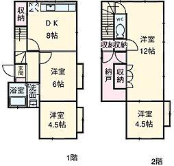 柚木邸 1階4SDKの間取り