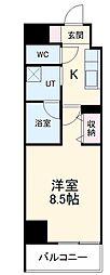 名鉄名古屋本線 名鉄名古屋駅 徒歩12分の賃貸マンション 10階1Kの間取り