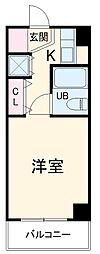 東急田園都市線 青葉台駅 徒歩15分の賃貸マンション 3階ワンルームの間取り