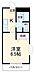 間取り,1K,面積21.87m2,賃料5.4万円,東京メトロ東西線 行徳駅 徒歩10分,東京メトロ東西線 南行徳駅 徒歩16分,千葉県市川市福栄2丁目