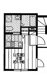 ブライトアンナ 3階ワンルームの間取り