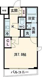 東急大井町線 北千束駅 徒歩1分の賃貸マンション 3階1Kの間取り