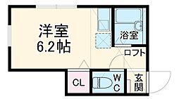横浜市営地下鉄ブルーライン 上永谷駅 徒歩8分の賃貸アパート 1階ワンルームの間取り