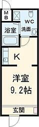 JR関西本線 四日市駅 徒歩6分の賃貸マンション 1階ワンルームの間取り