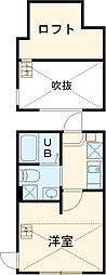 YOKOSUKA COAST RESIDENCE 2階1Kの間取り