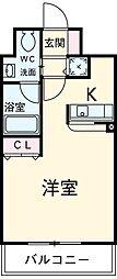 アーバンポイント高崎 10階1Kの間取り