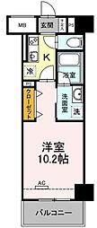 近鉄名古屋線 近鉄四日市駅 徒歩6分の賃貸マンション 3階1DKの間取り