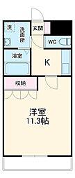 JR成田線 成田駅 バス10分 獅子穴中央下車 徒歩5分の賃貸アパート 1階1Kの間取り