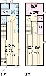 等々力サンテラス 1階1SLDKの間取り