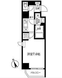 西武新宿線 都立家政駅 徒歩7分の賃貸マンション 5階1Kの間取り