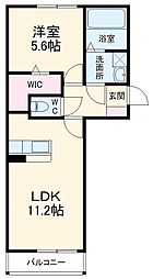 JR総武線 稲毛駅 徒歩20分の賃貸アパート 3階1LDKの間取り