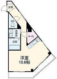 千葉都市モノレール 穴川駅 徒歩5分の賃貸マンション 3階ワンルームの間取り