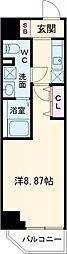 西武新宿線 高田馬場駅 徒歩4分の賃貸マンション 1階1Kの間取り