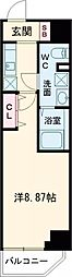 西武新宿線 高田馬場駅 徒歩4分の賃貸マンション 3階ワンルームの間取り