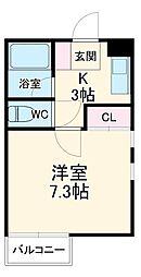 東武伊勢崎線 新伊勢崎駅 3.8kmの賃貸アパート 1階1Kの間取り