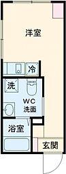 ラフォート板橋本町 2階ワンルームの間取り