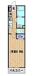 リブリ・モアアリエッタ 1階1Kの間取り