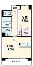 阪急京都本線 上牧駅 徒歩3分の賃貸マンション 3階1LDKの間取り