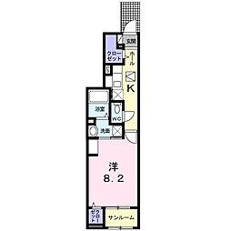 JR川越線 西大宮駅 徒歩3分の賃貸アパート 1階1Kの間取り