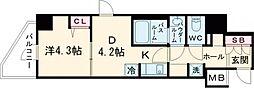 ラフィスタ北綾瀬 3階1Kの間取り