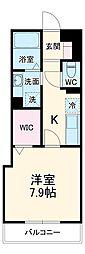 JR京浜東北・根岸線 根岸駅 徒歩8分の賃貸アパート 3階1Kの間取り