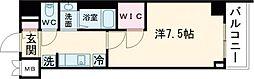 東急東横線 都立大学駅 徒歩4分の賃貸マンション 4階1Kの間取り