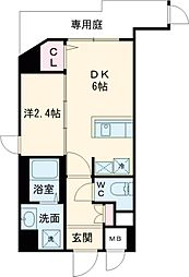 東急東横線 都立大学駅 徒歩4分の賃貸マンション 3階1DKの間取り