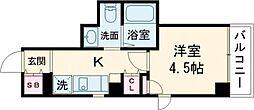JR京浜東北・根岸線 大森駅 徒歩5分の賃貸マンション 5階1Kの間取り