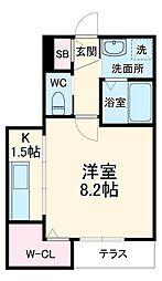 JR京浜東北・根岸線 大宮駅 徒歩4分の賃貸アパート 1階1Kの間取り