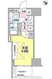東急池上線 戸越銀座駅 徒歩8分の賃貸マンション 1階1Kの間取り