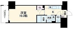 JR京浜東北・根岸線 大宮駅 徒歩11分の賃貸マンション 3階1Kの間取り