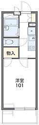 愛知高速東部丘陵線 杁ヶ池公園駅 徒歩19分の賃貸マンション 1階1Kの間取り