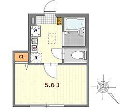 バーミープレイス西新宿 1階1Kの間取り