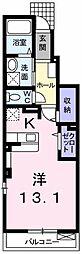 東武桐生線 相老駅 徒歩23分の賃貸アパート 1階1Kの間取り
