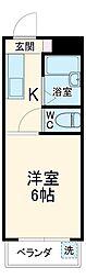 JR東海道本線 岐阜駅 バス35分 三田洞下車 徒歩7分の賃貸マンション 3階1Kの間取り