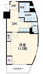 ロフォス新荘 2階1DKの間取り