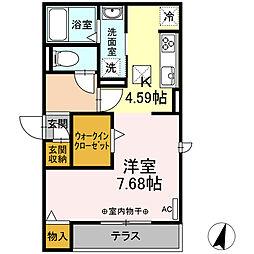 仮)-room松鴻町C棟 1階ワンルームの間取り