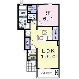 JR東北本線 白岡駅 徒歩17分の賃貸アパート 1階1LDKの間取り