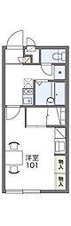 JR両毛線 新前橋駅 徒歩18分の賃貸アパート 1階1Kの間取り